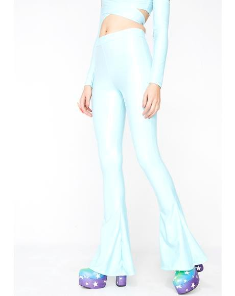 Baby Blue High Waisted Flares