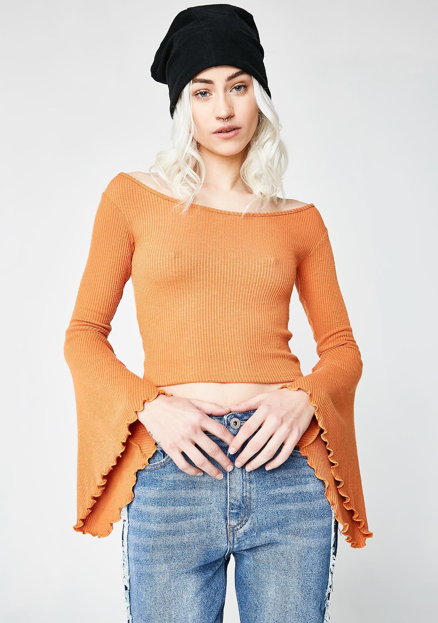 Dream Girl Bell Sleeve Top