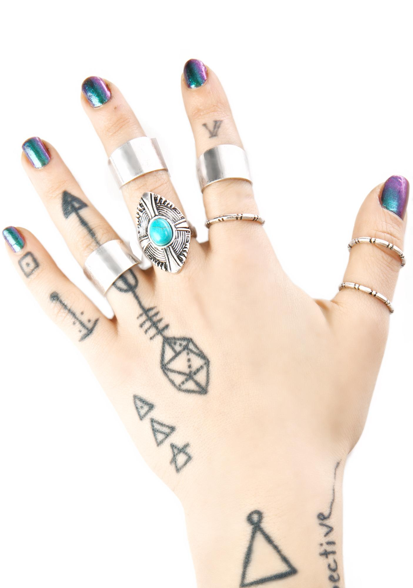 Conjuring Silver Ring Set