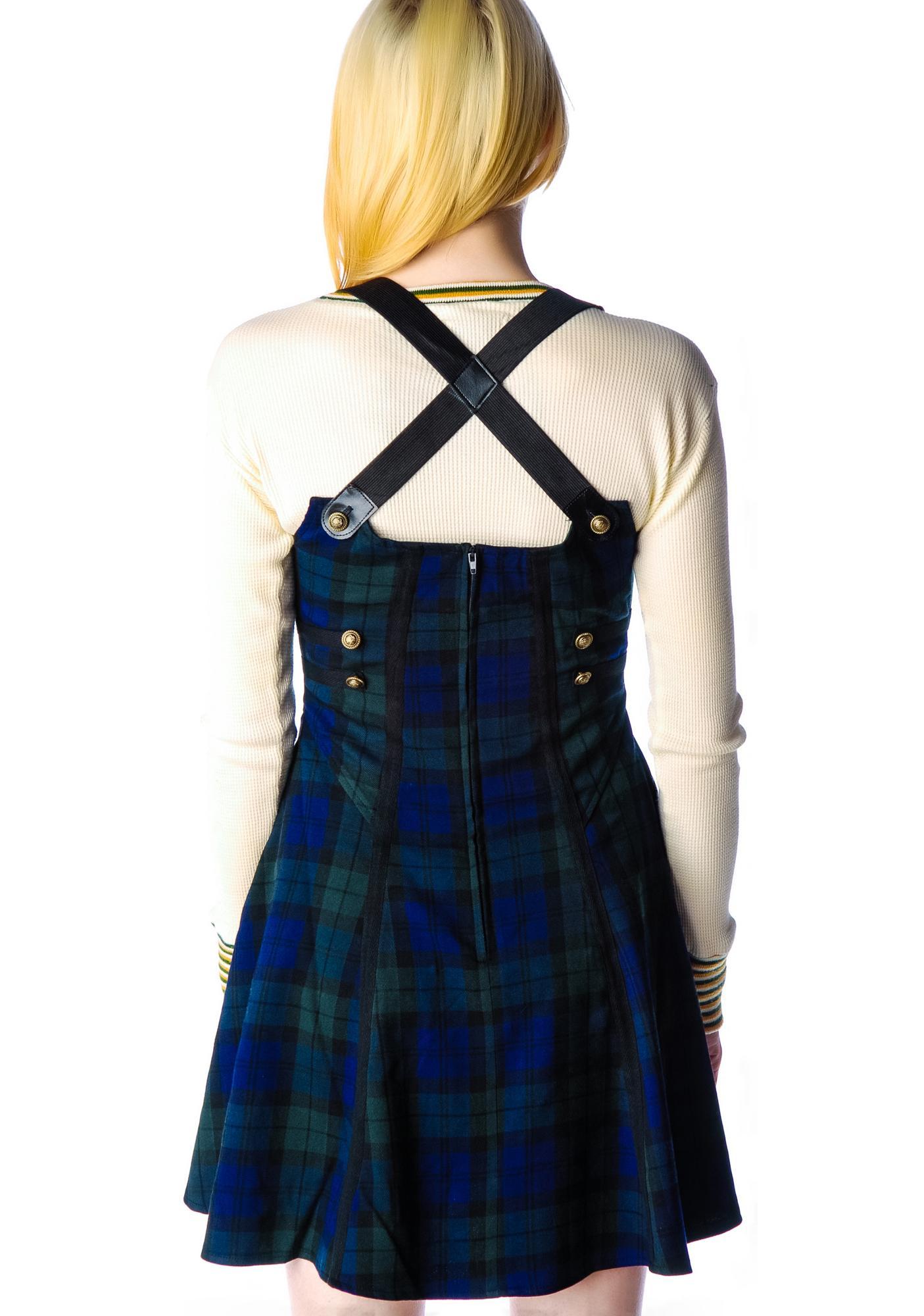 Hell Bunny Brita Plaid Rock Dress