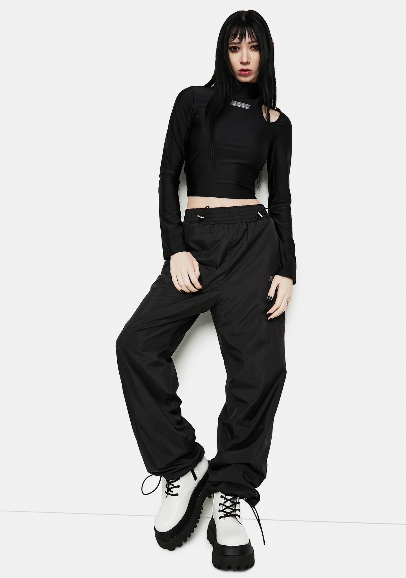 ZNY Strap Body Long Sleeve Top