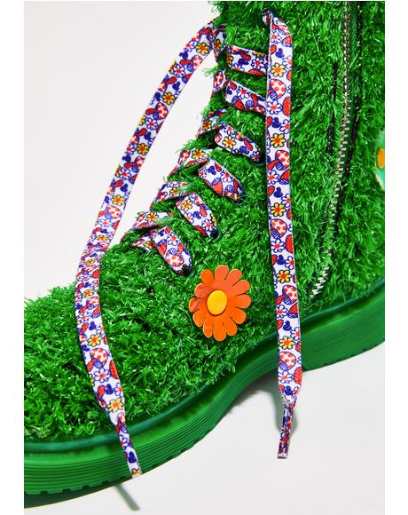 Shroomin' Daisy Shoelaces