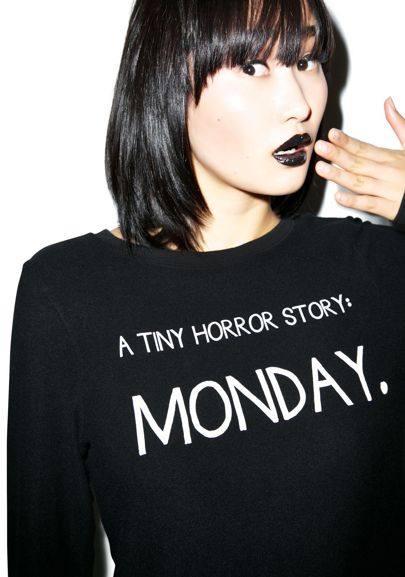 Wildfox Couture Tiny Horror Story Baggy Beach Jumper
