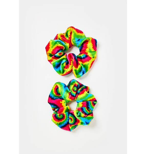 Groovy Gal Tie Dye Scrunchies