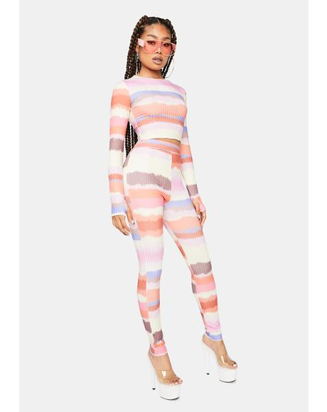 Take A Chance On Me Striped Pants Set