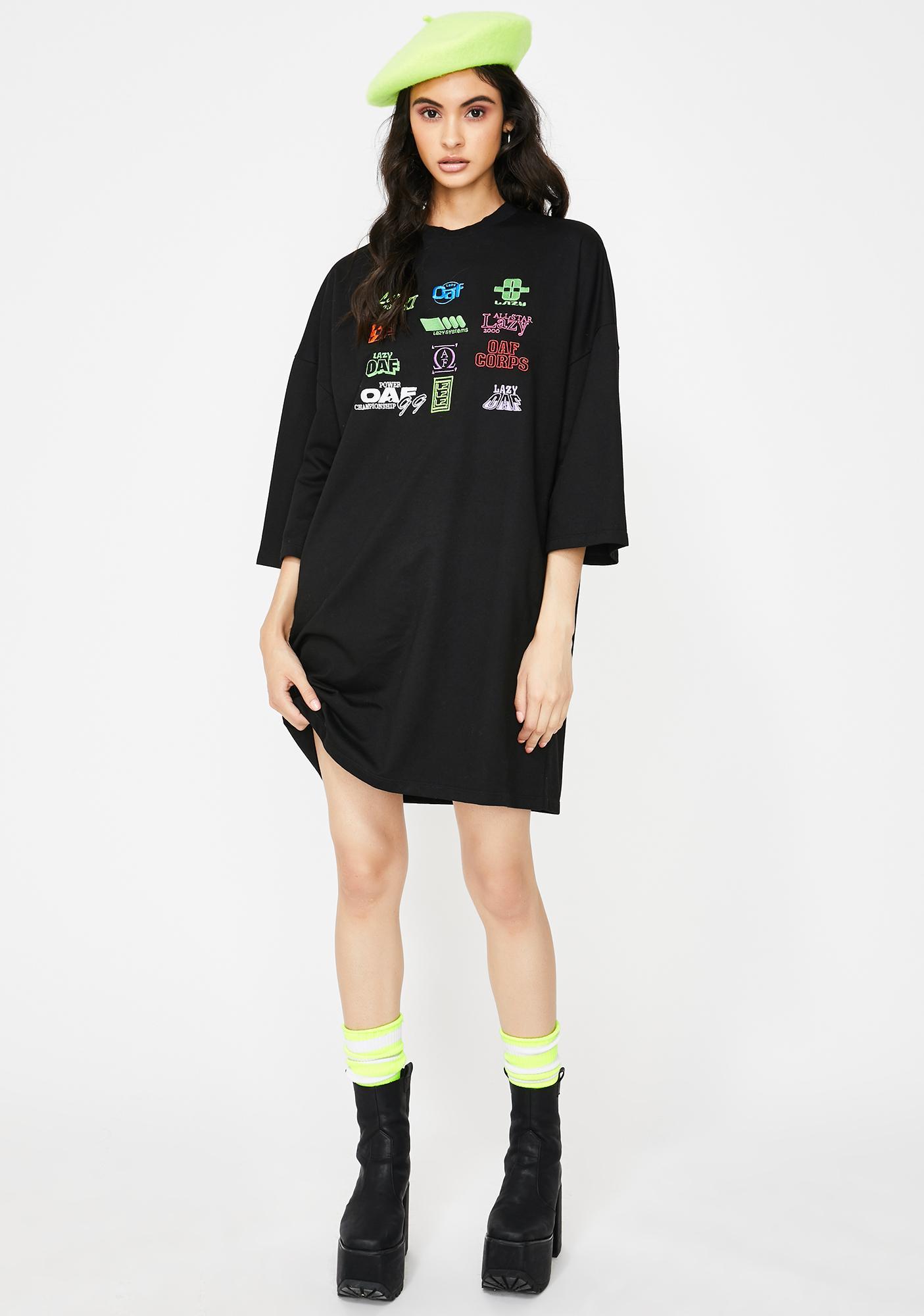 Lazy Oaf Playing Games T-Shirt Dress