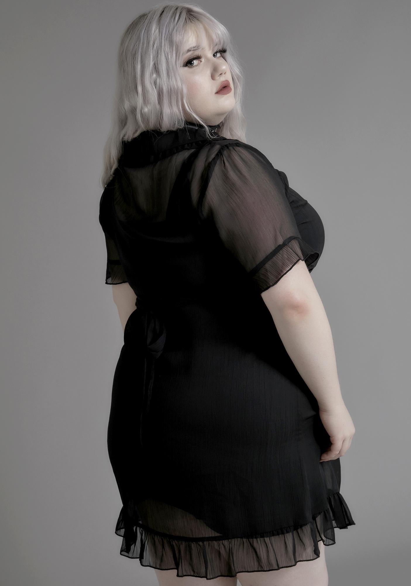 Widow My Sister Of Mercy Chiffon Dress