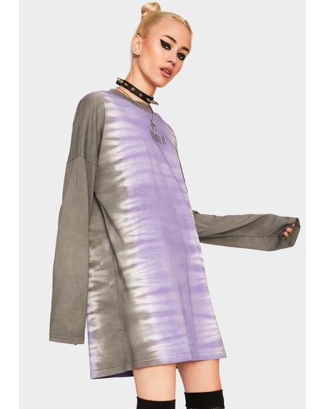 Lilac Dip Dye Skater Dress