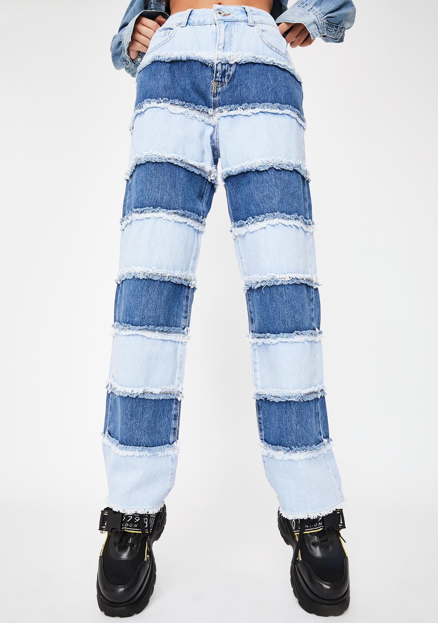The Ragged Priest Infringement Stripe Panel Jeans
