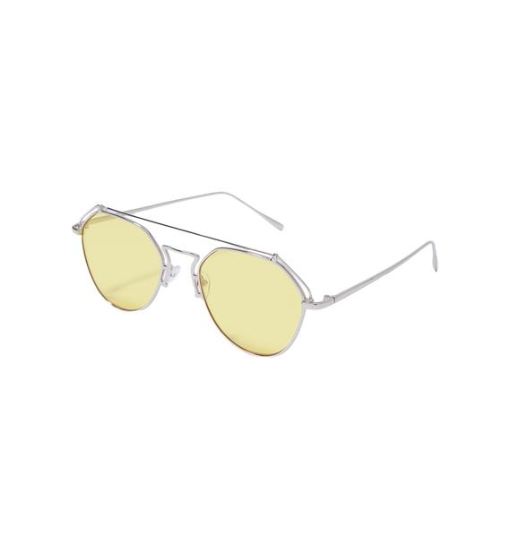 YHF Stephanie Transparent Aviators