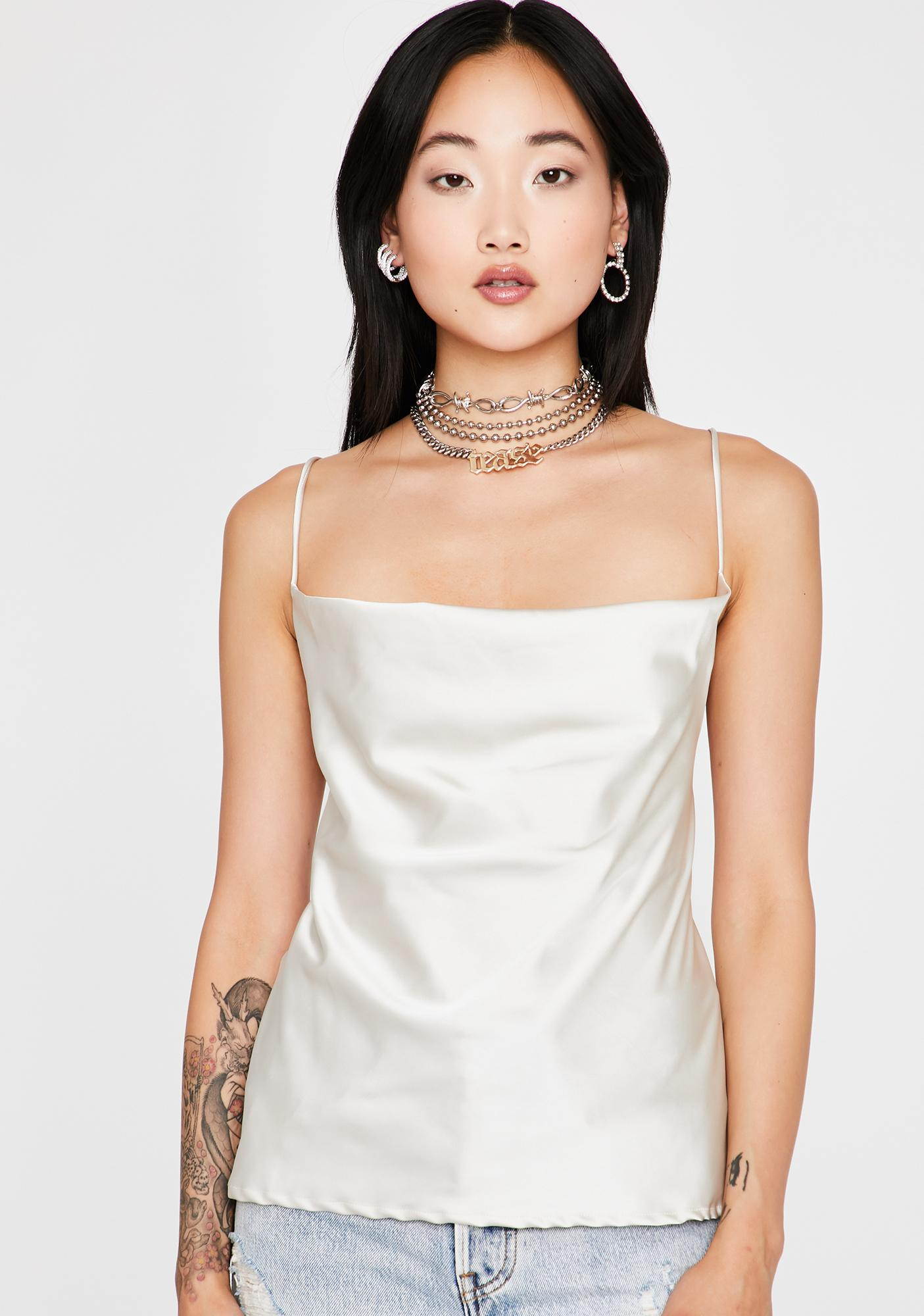 Platinum New Drip Strappy Blouse