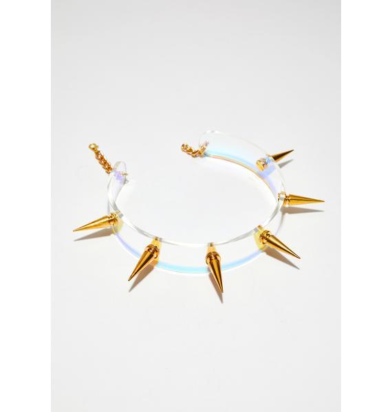 Animal Hair Spiky Bitch Collar