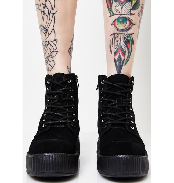 T.U.K. Suede 7 Eye Mondo Creeper Boots