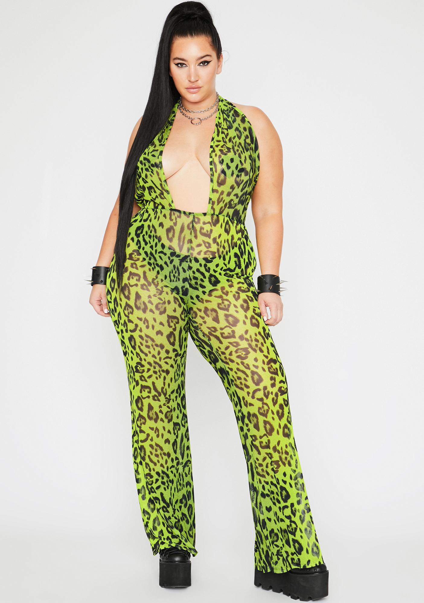 Bodak Glam Boss Jungle Sheer Jumpsuit