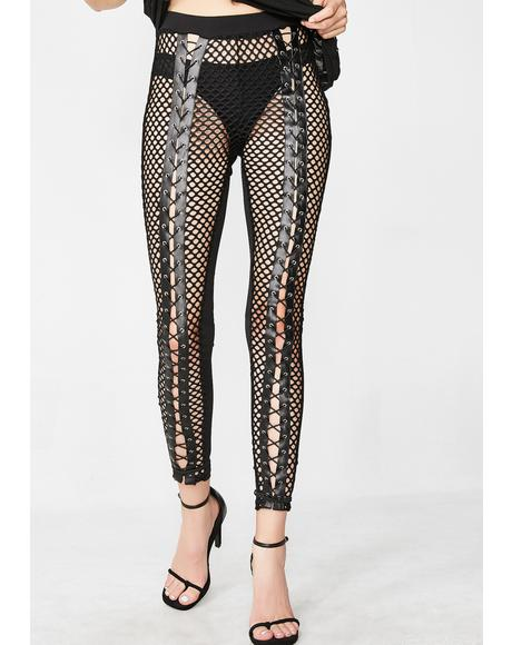 Jaw Drop Lace-Up Leggings