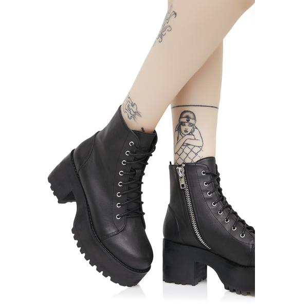 Current Mood Raven Boots