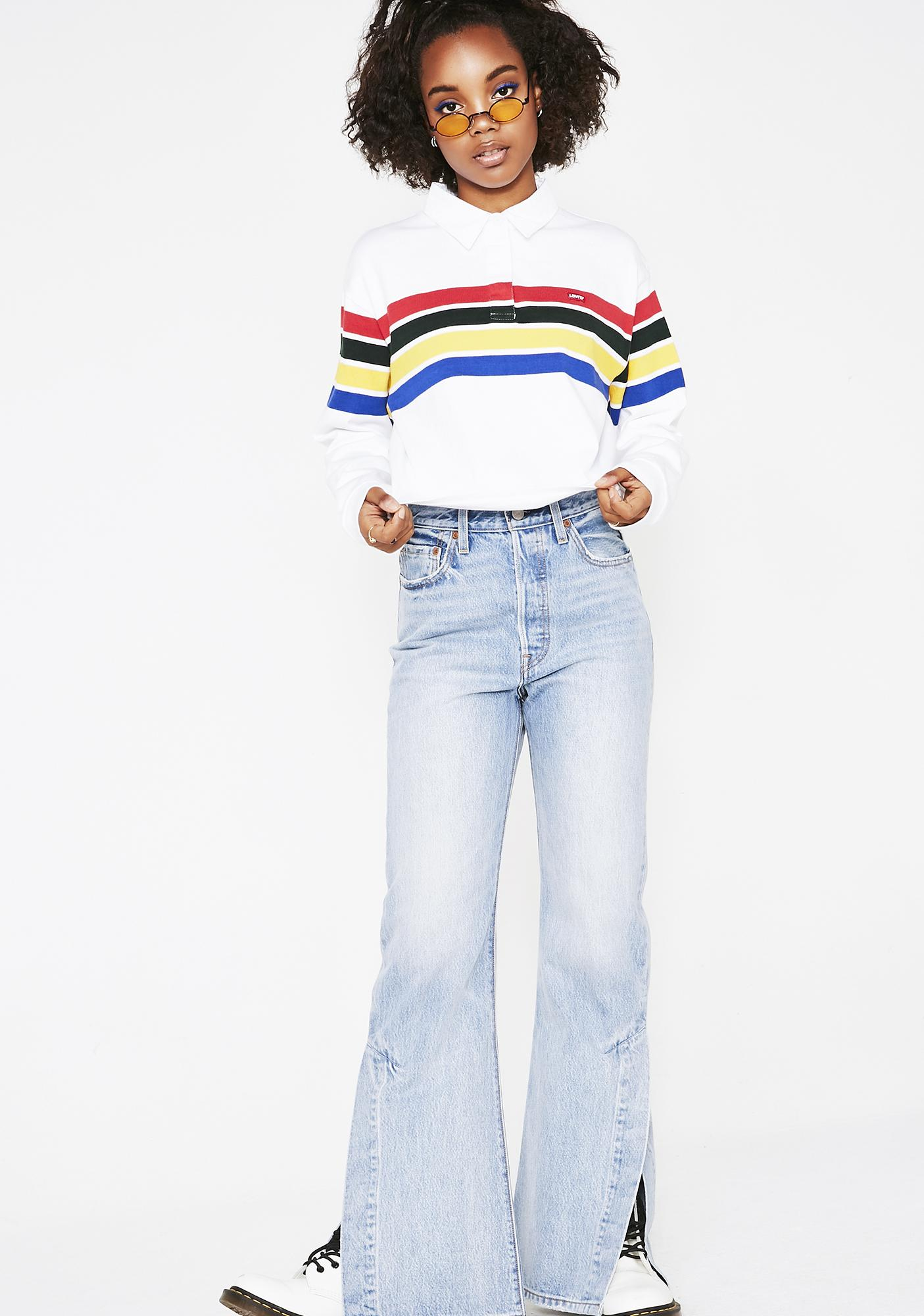 Levis Pure Striped Rugby Top