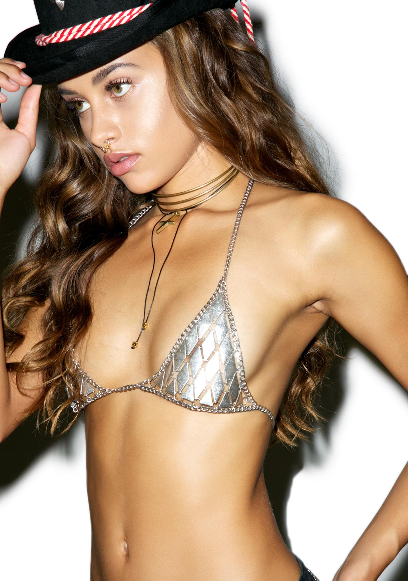 Vanessa Mooney The Farrah Diamond Metal Bra