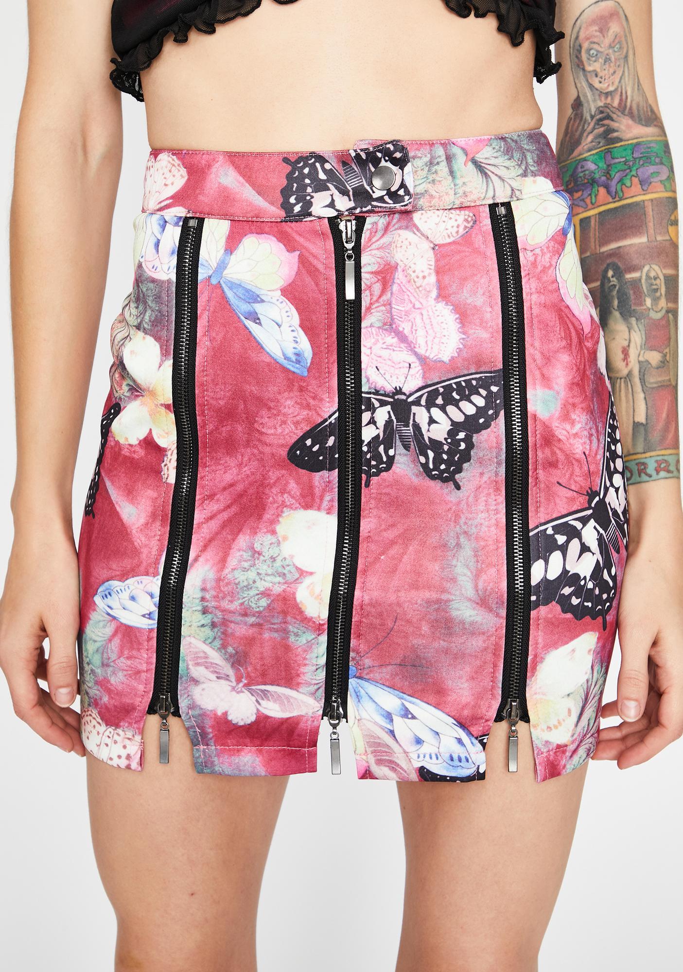 Electric Forest Zipper Skirt