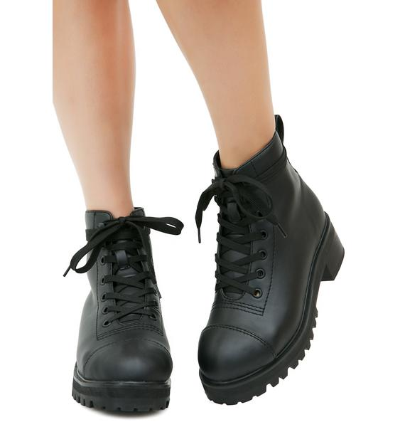 Current Mood Pitch Black Boots