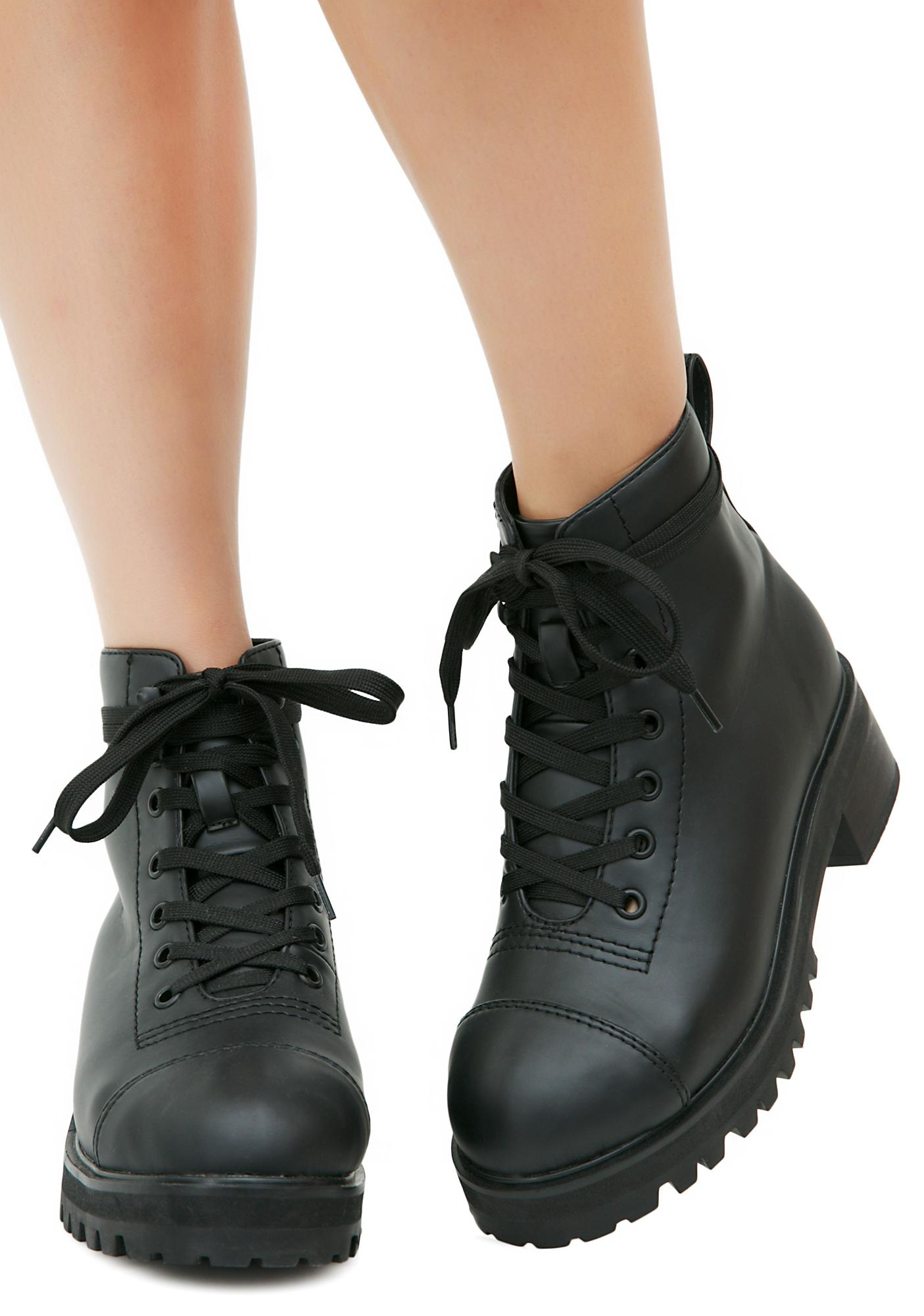 e7d3846fba66 Current Mood Classic Black Combat Boots