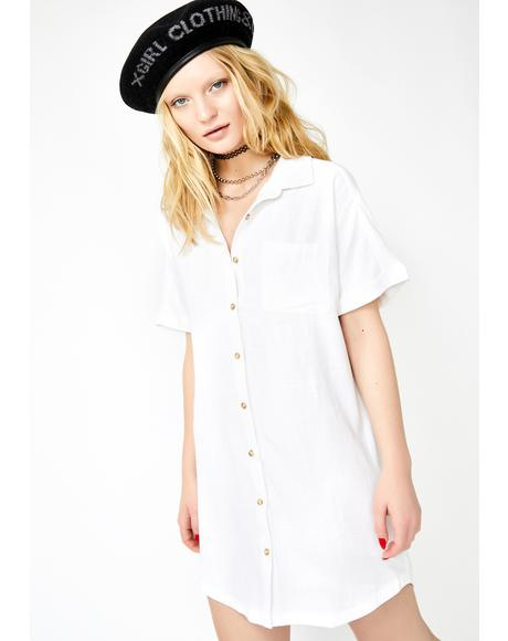 Icy Chilled Out Shirt Dress
