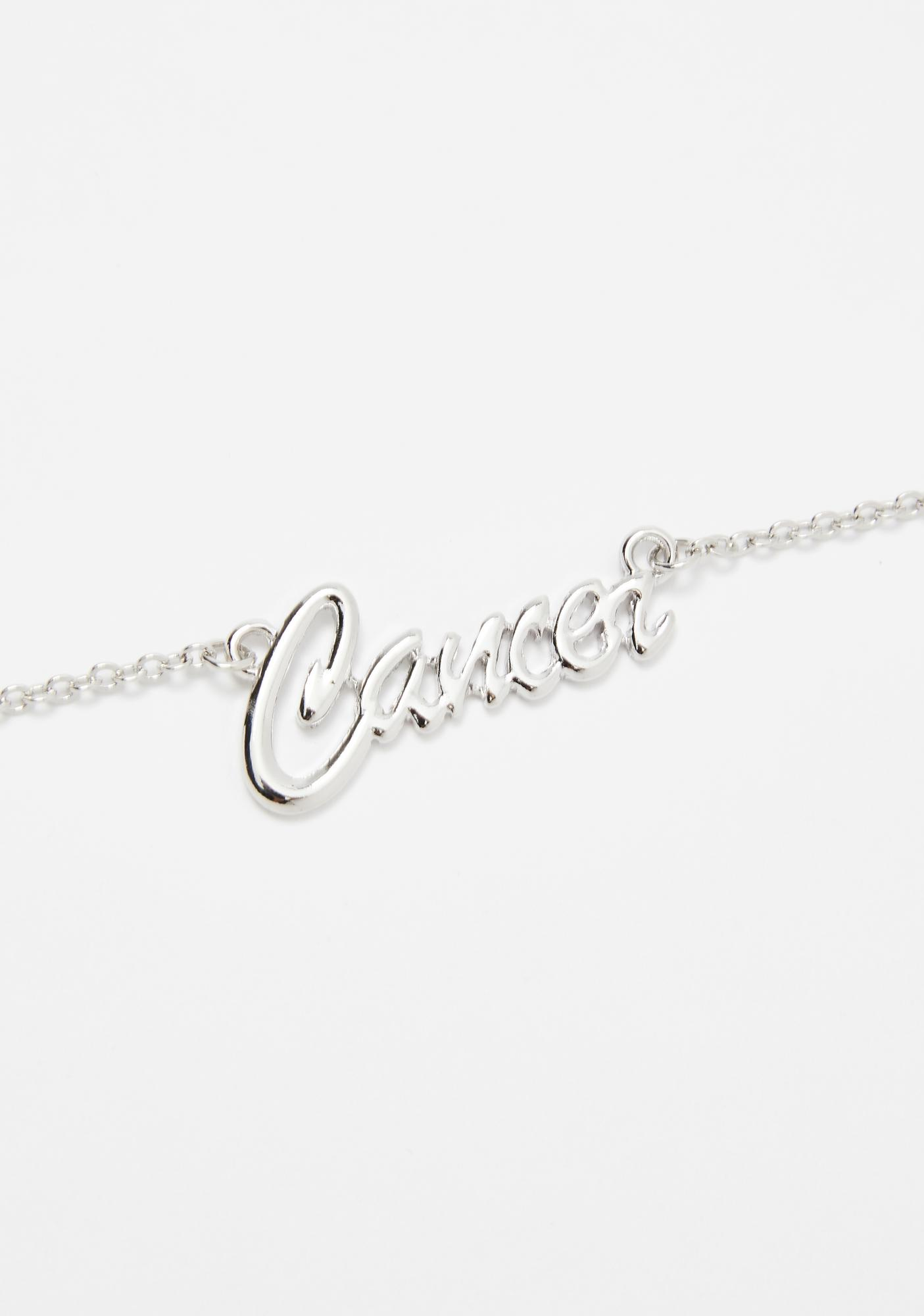 Crybaby Cancer Nameplate Necklace
