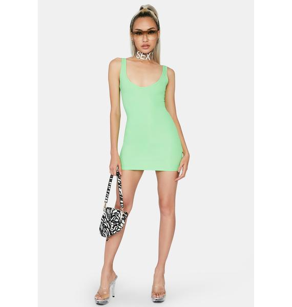 Kiki Riki Lime Boss Up Mini Dress