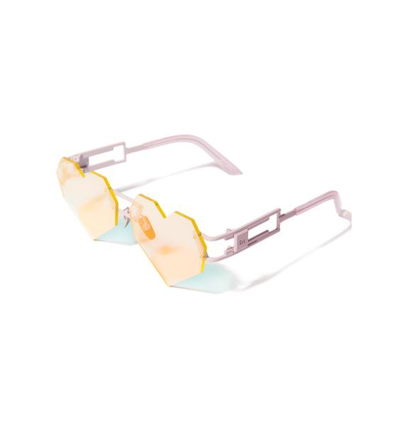 ESQAPE Hologram Heart Speqz Sunglasses