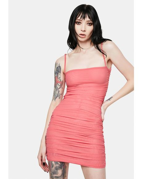 Pink Stone Cold Cut Out Cami Dress