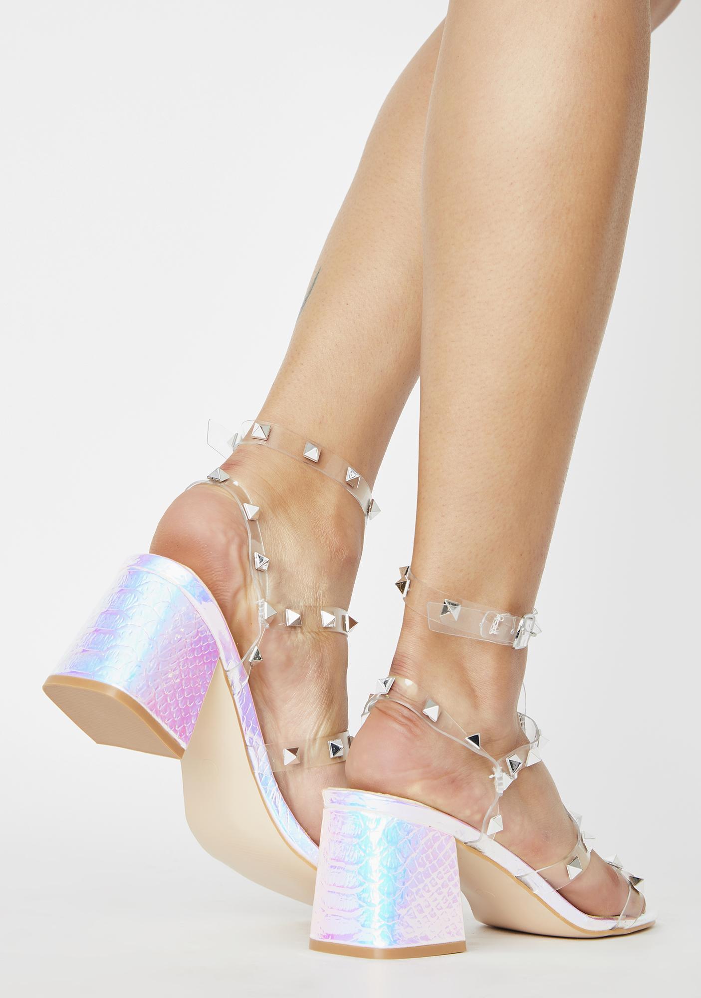 Public Desire Iridescent Always Sandal Heels