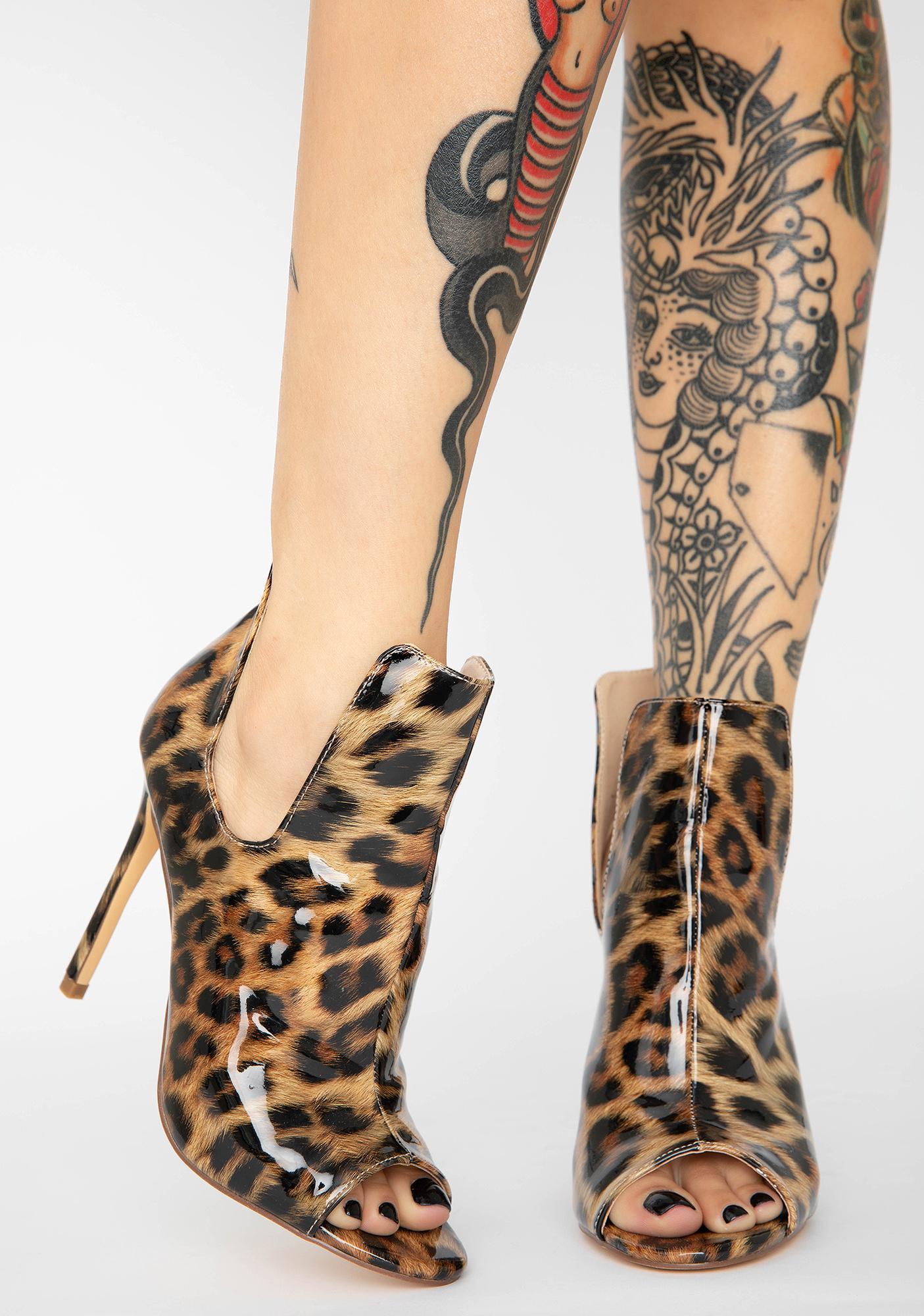 AZALEA WANG Trimble Leopard Heels