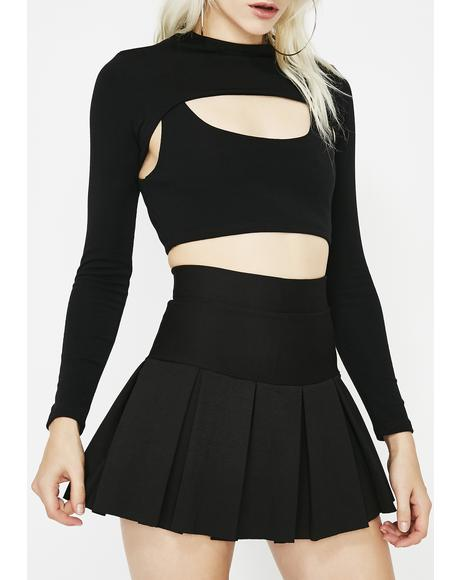 Wicked Scholar Pleated Mini Skirt