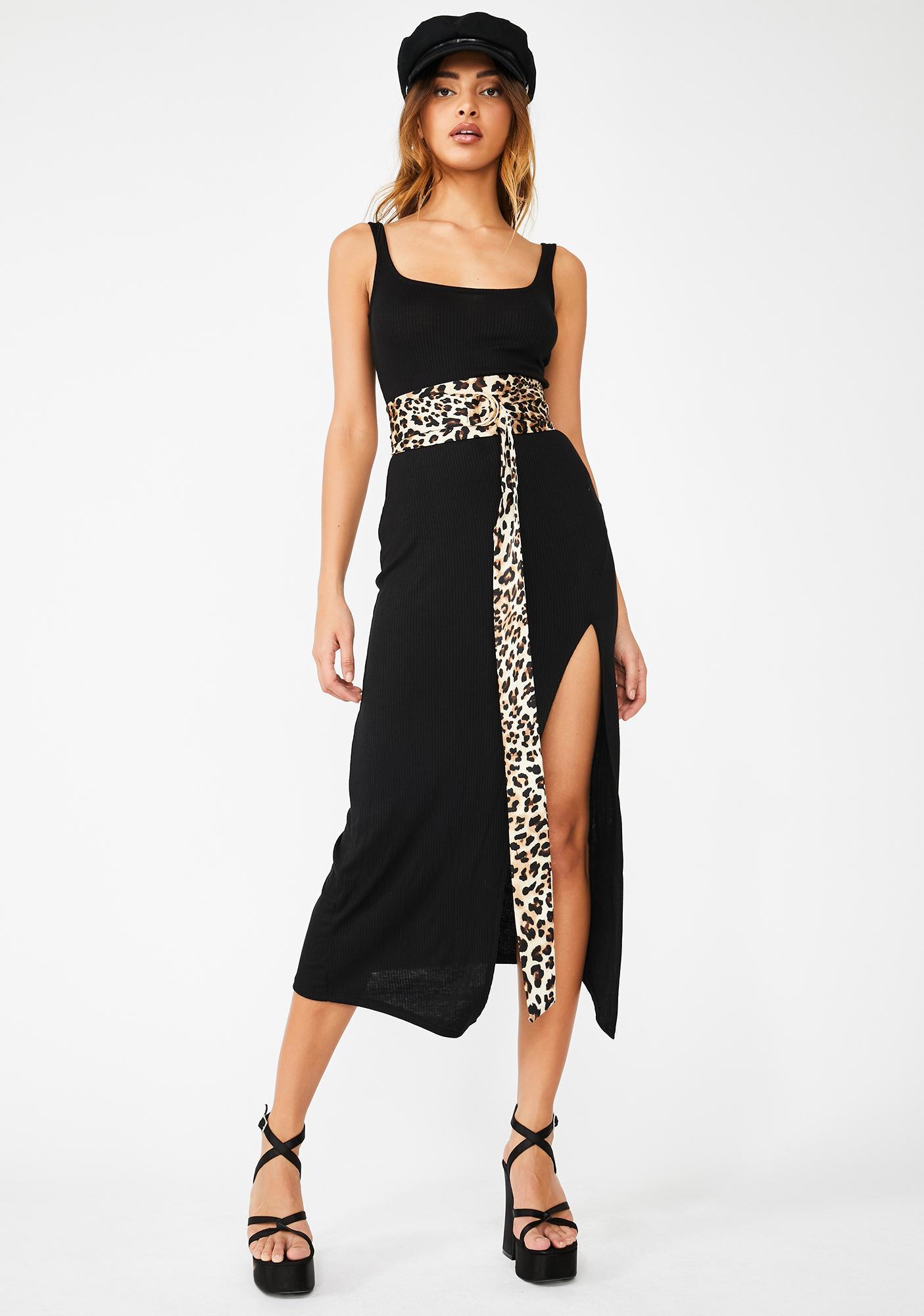Silent Stalker Leopard Wrap Belt