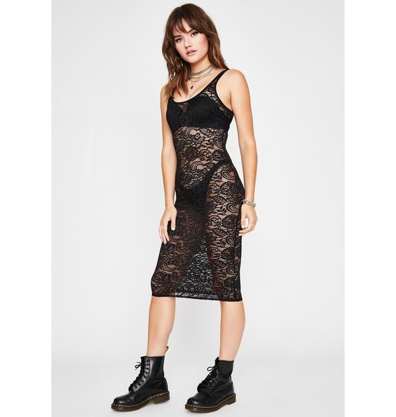 Sinful Risque Business Lace Dress