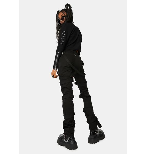 Tripp NYC Black Harness Pants