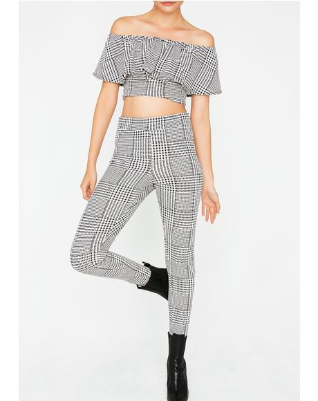 Yours Truly Plaid Set