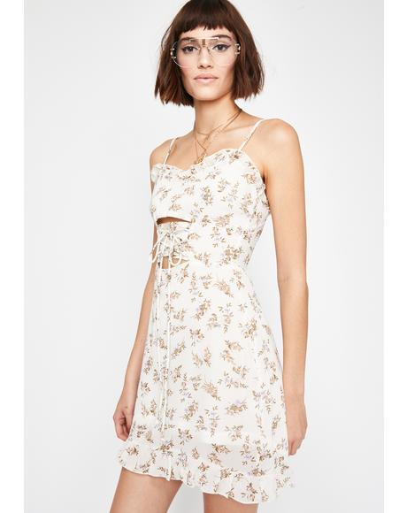 Ivory Softest Romance Floral Dress