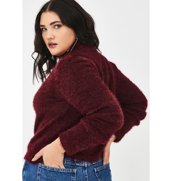 Current Mood Prep School Daze Fuzzy Sweater