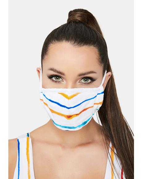 Watercolor Multi Stripe Face Mask