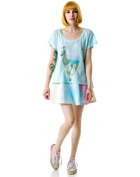 Rainbow Pony Lazy Weekend T
