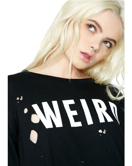 Weirdo Distressed Tee
