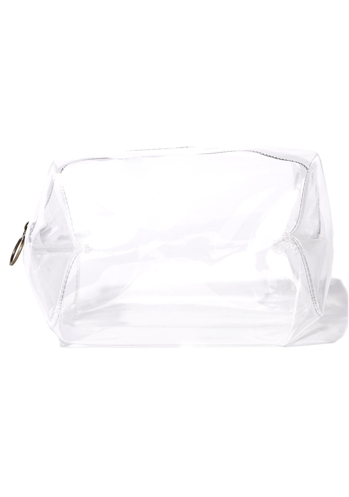 Clearly Slaying Transparent Makeup Bag