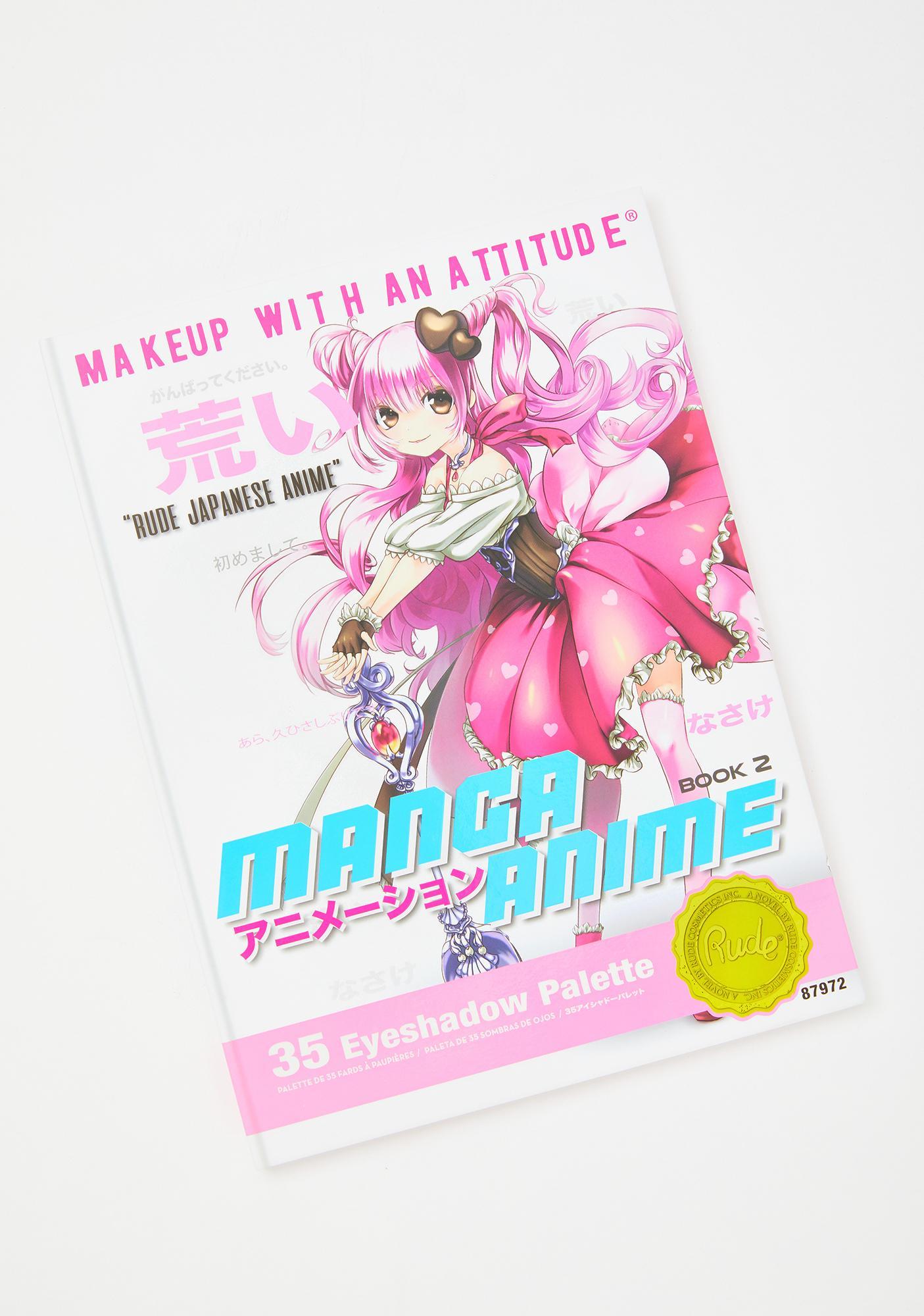 Rude Cosmetics Manga Anime Book 2 Eyeshadow Palette