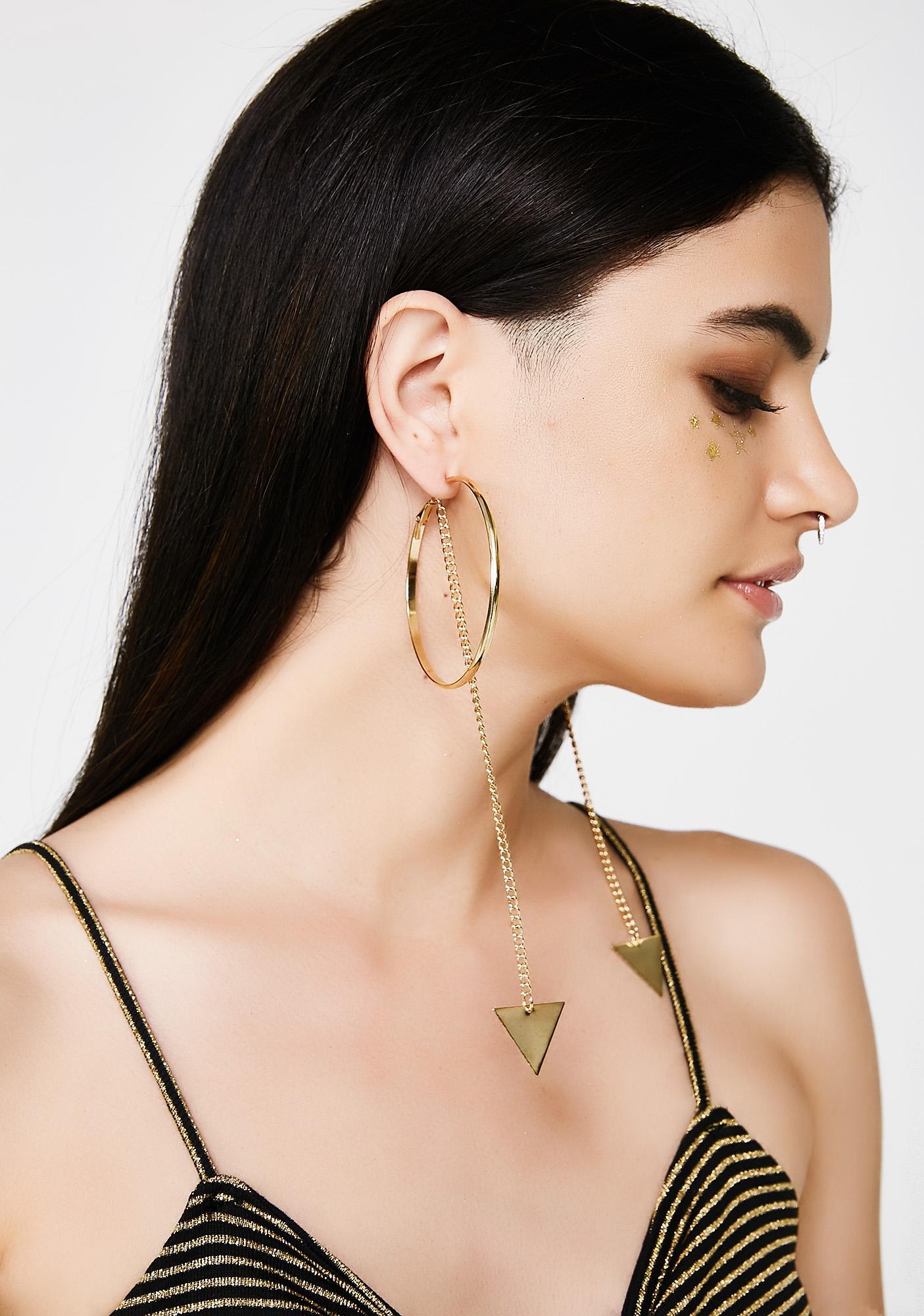Hold The Chain Hoop Earrings