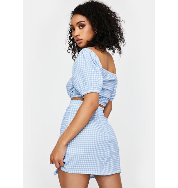 NEW GIRL ORDER Gingham Frill Mini Skirt