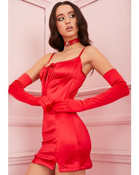 Rouge Cupid's Crush Satin Dress