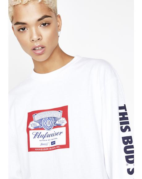 x Budweiser Label Long Sleeve Tee