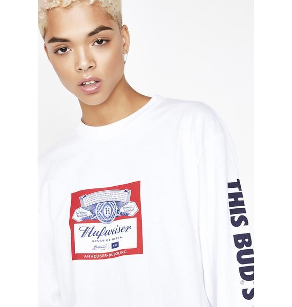 HUF x Budweiser Label Long Sleeve Tee