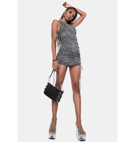 Motel Ardila Ruched Mini Dress